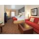 Junior Suite King bed with queen sofa sleeper, microwave, fridge