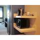 Microwave, Mini Fridge, Keurig Coffee Maker