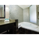 Relaxing Jacuzzi tub in Deluxe King Room.