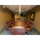 Board Room Featuring HDTV Leather Ergonomic Chairs Power Ports