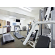 Stay fit by using our convenient fitness center