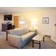 Queen Fireplace Suite Living Area