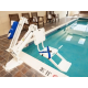 ADA Lifts Accessing Pool and Hot Tub