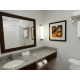 Guest bathroom with shower/tub combination.