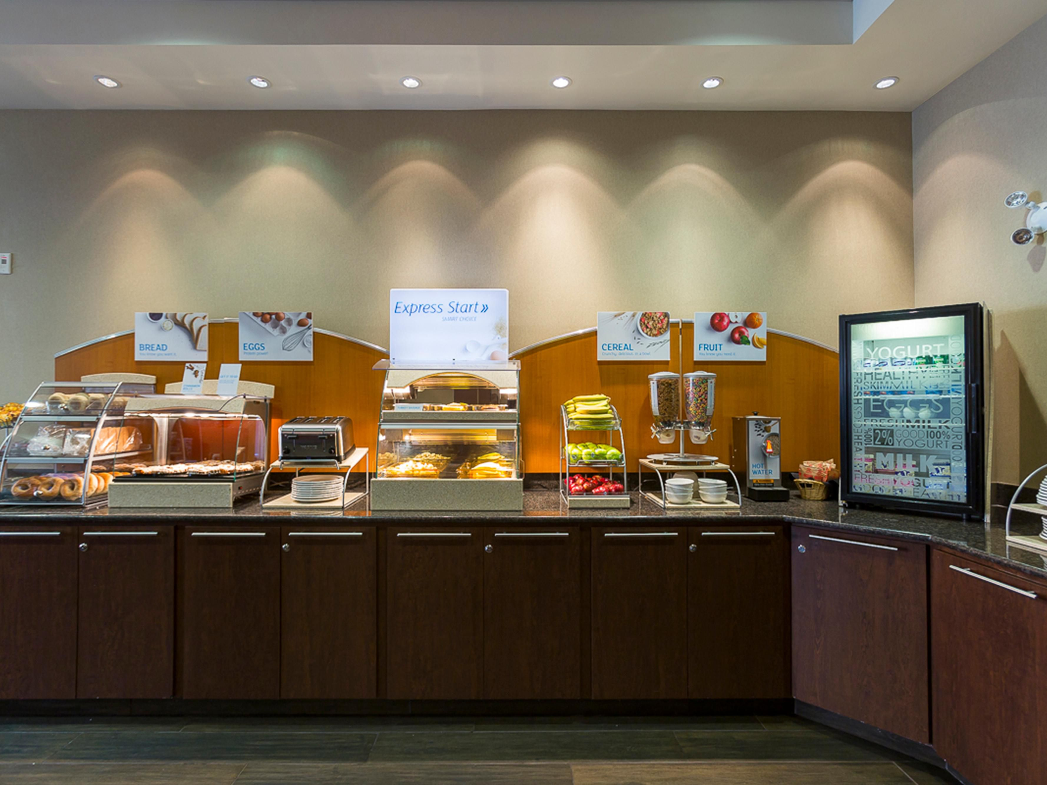 Breakfast Bar, Serving Your Express Start Breakfast.