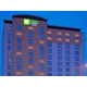 A stunning view of our 10 storey hotel at dusk on Hwy 7 & Leslie