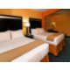 Two queen beds offer a comfortable place for families to stay.