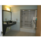 Family suite with handicap features and private bathroom.