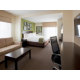 Spacious king suite with pullout sofa