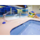 The kiddie pool has water features to provide hours of fun!