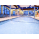 The activity pool is perfect for laps or playing with friends.