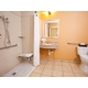 Wheelchair Accessible bathroom with all the convenience you need