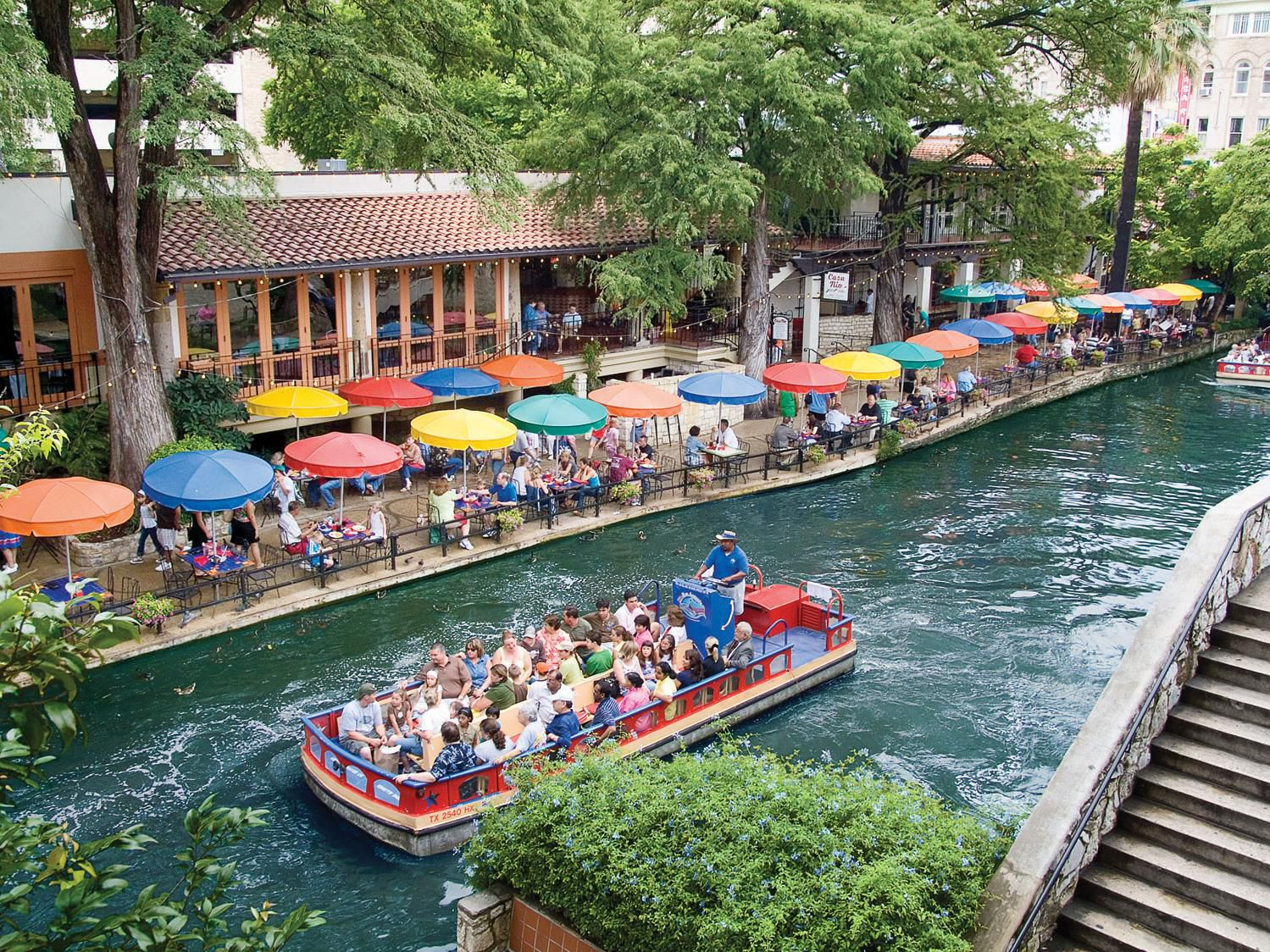 Take a boat ride on the Riverwalk