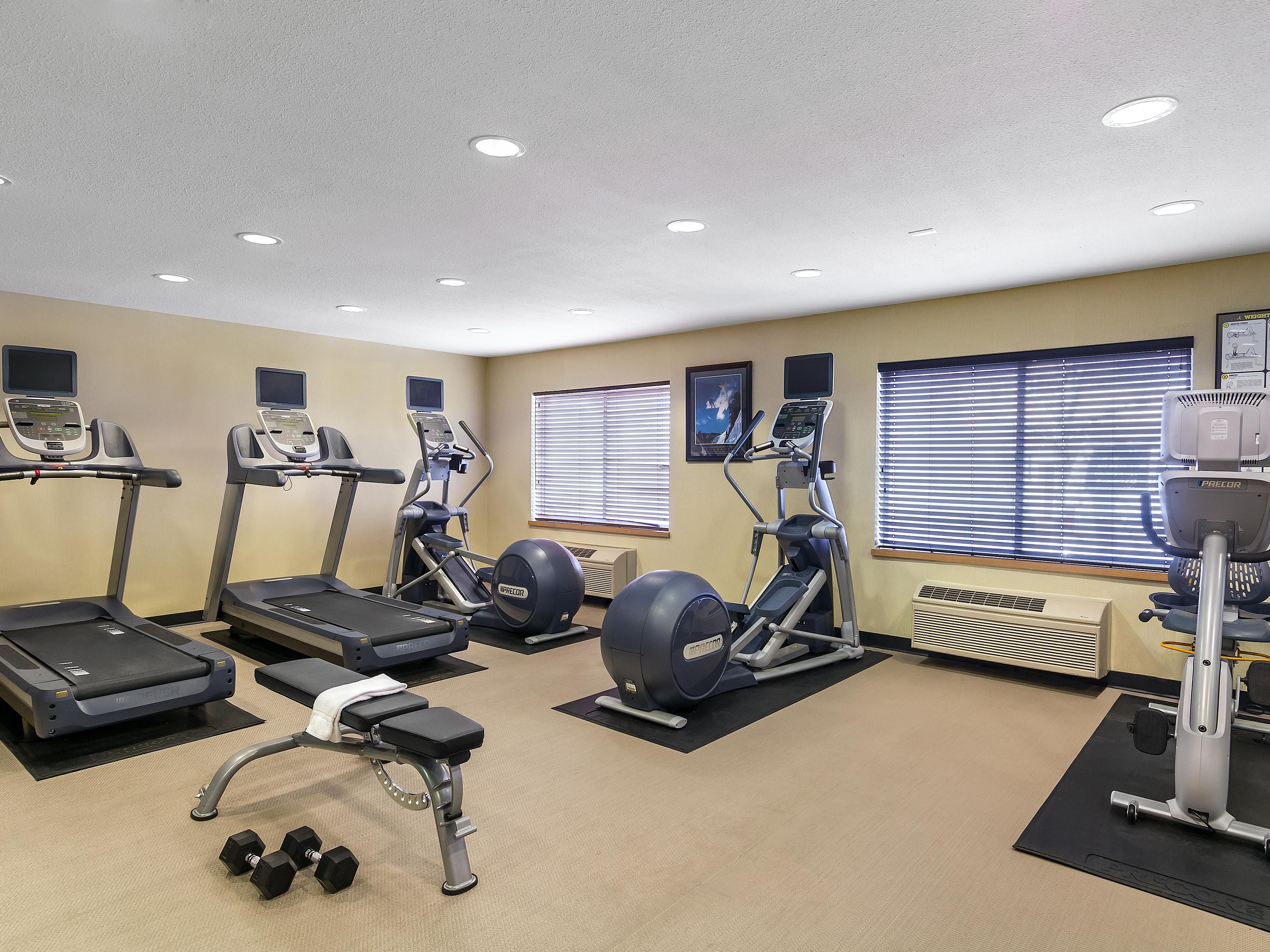 Fitness Center is open 24 hours and offers all new equipment!