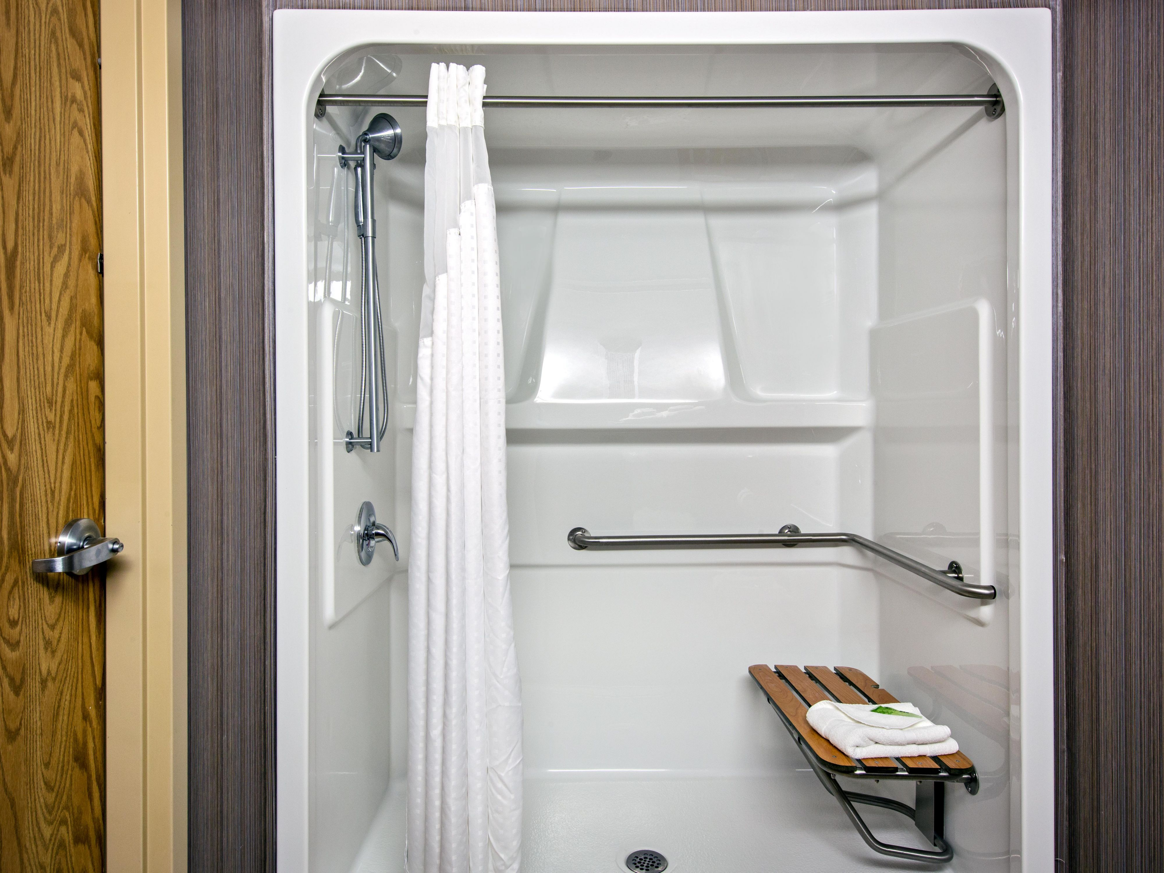 ADA/Handicapped accessible Guest Bathroom with roll-n shower