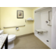 Handicap Accessible Guest Bathroom with Roll-in Shower