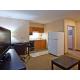 Kitchenette & refridgerator/freezer found in suites