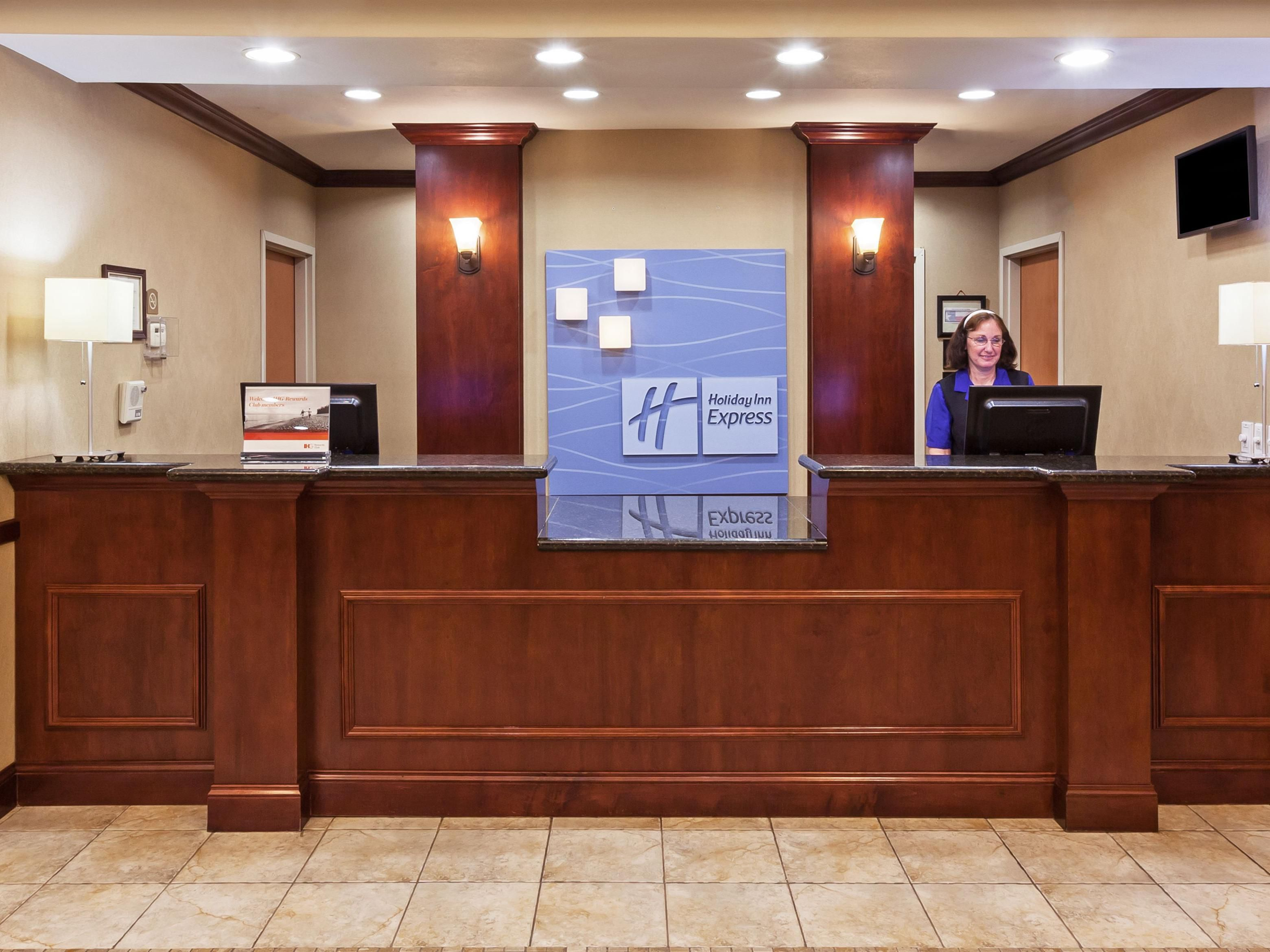Our front desk welcomes you