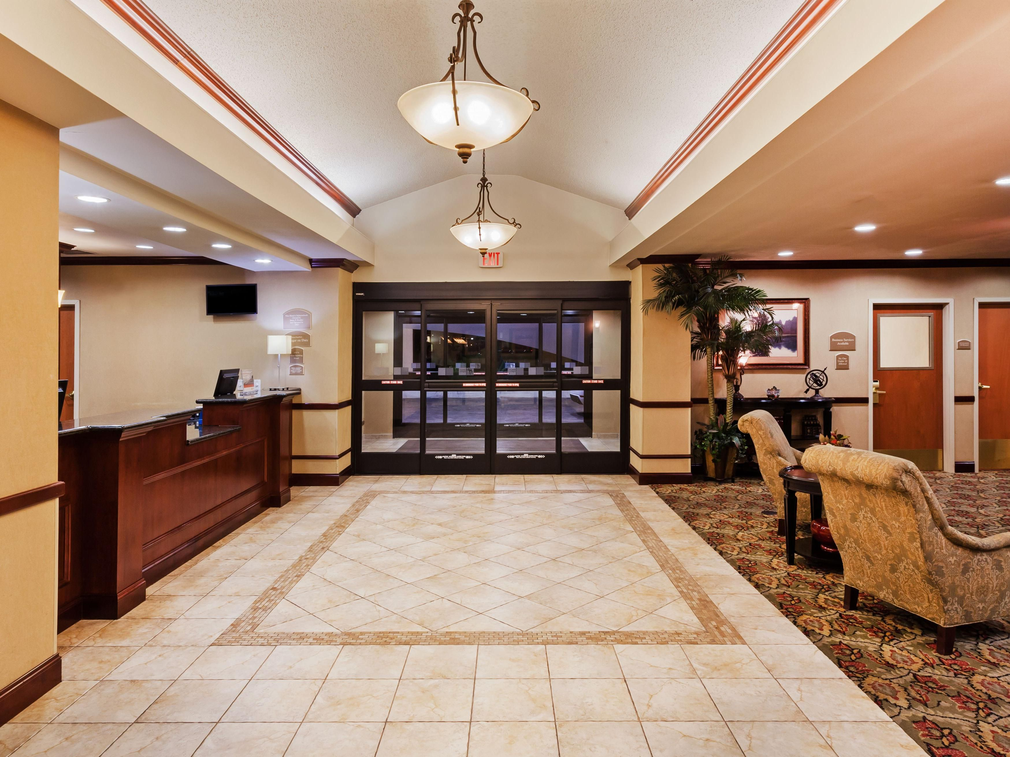 Inviting entry into our lobby