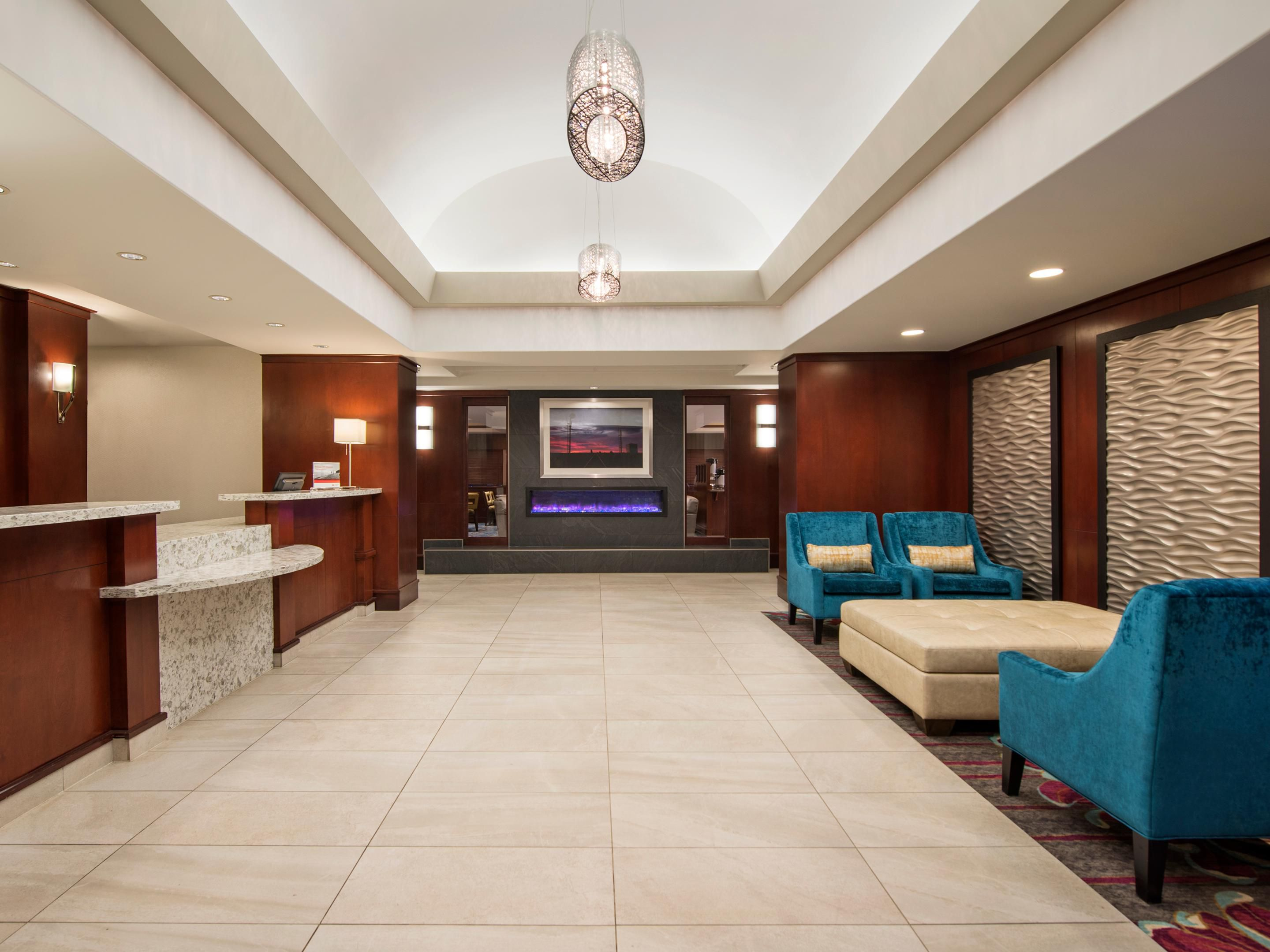 Enjoy the Holiday Inn Express's cozy and comfortable lobby