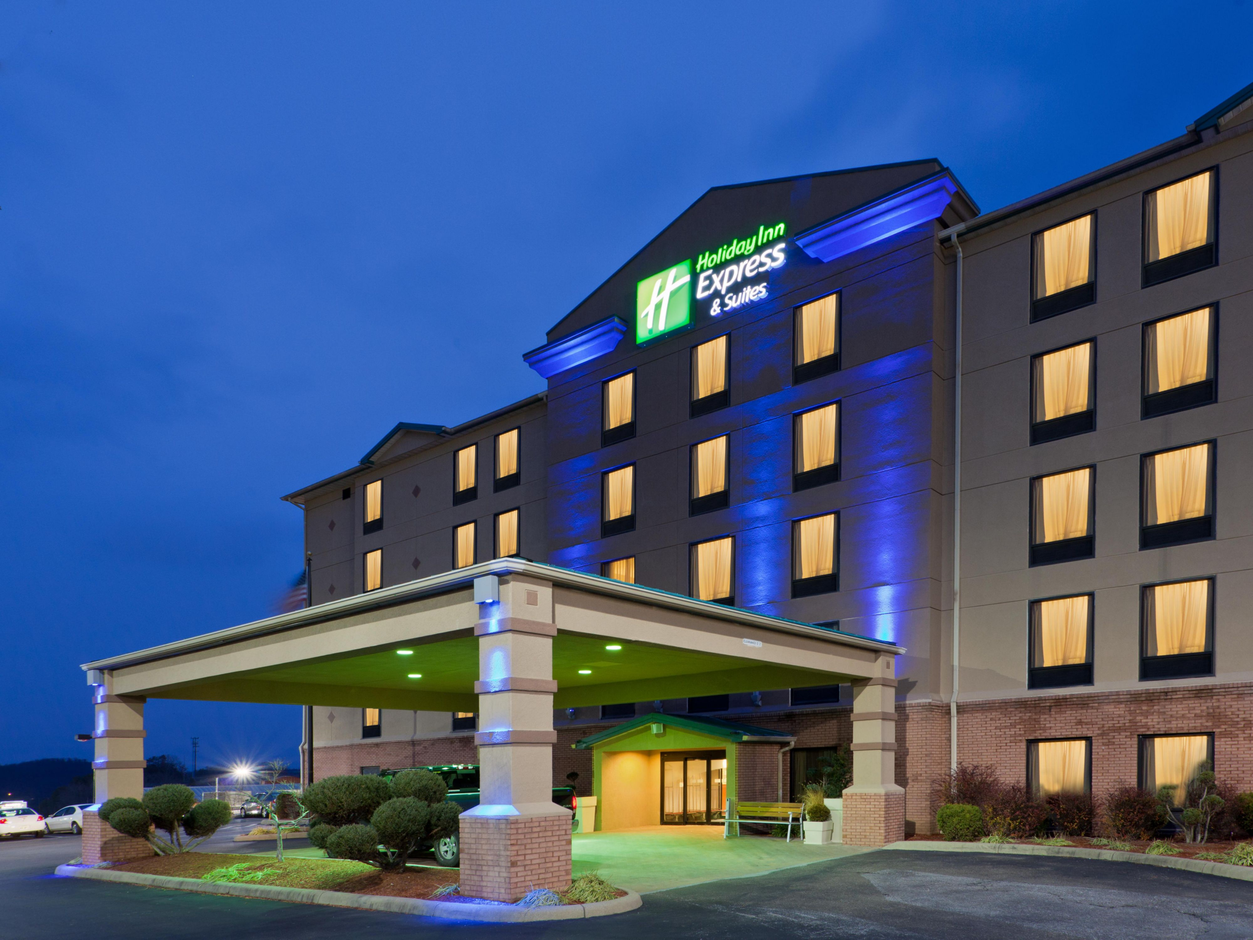 Holiday Inn Express & Suites has a well lit area to welcome you