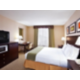 King bed, Microwave and Fridge