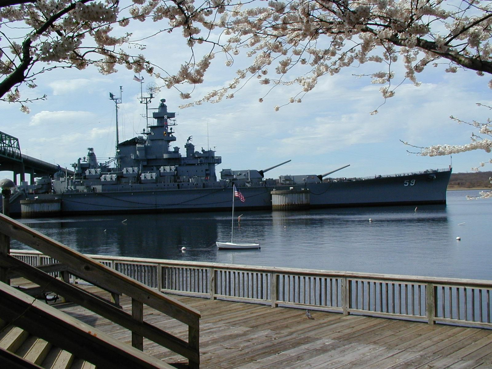 Battleship Cove only 4 miles away