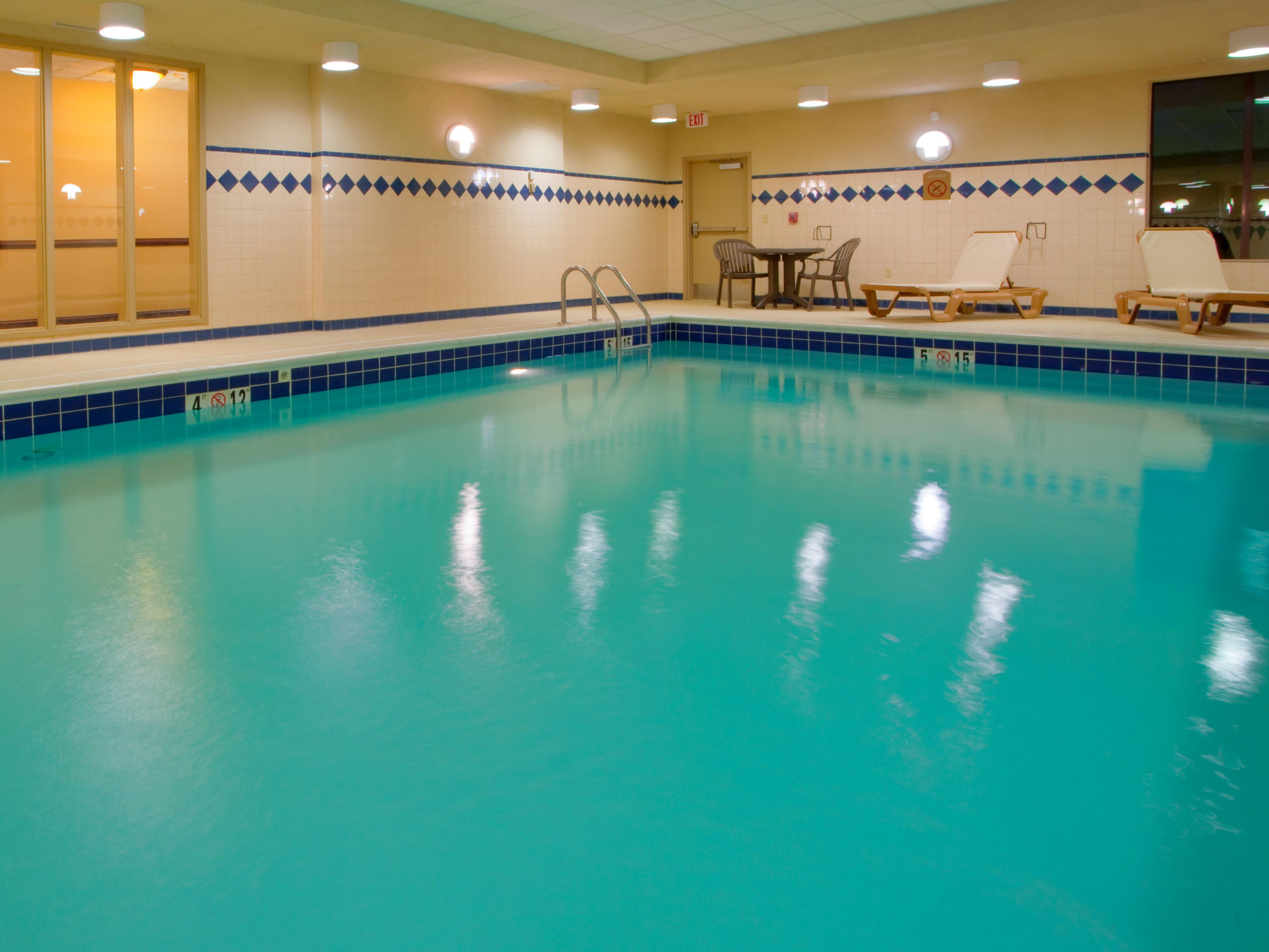 Our pool is heated during winter months for your comfort