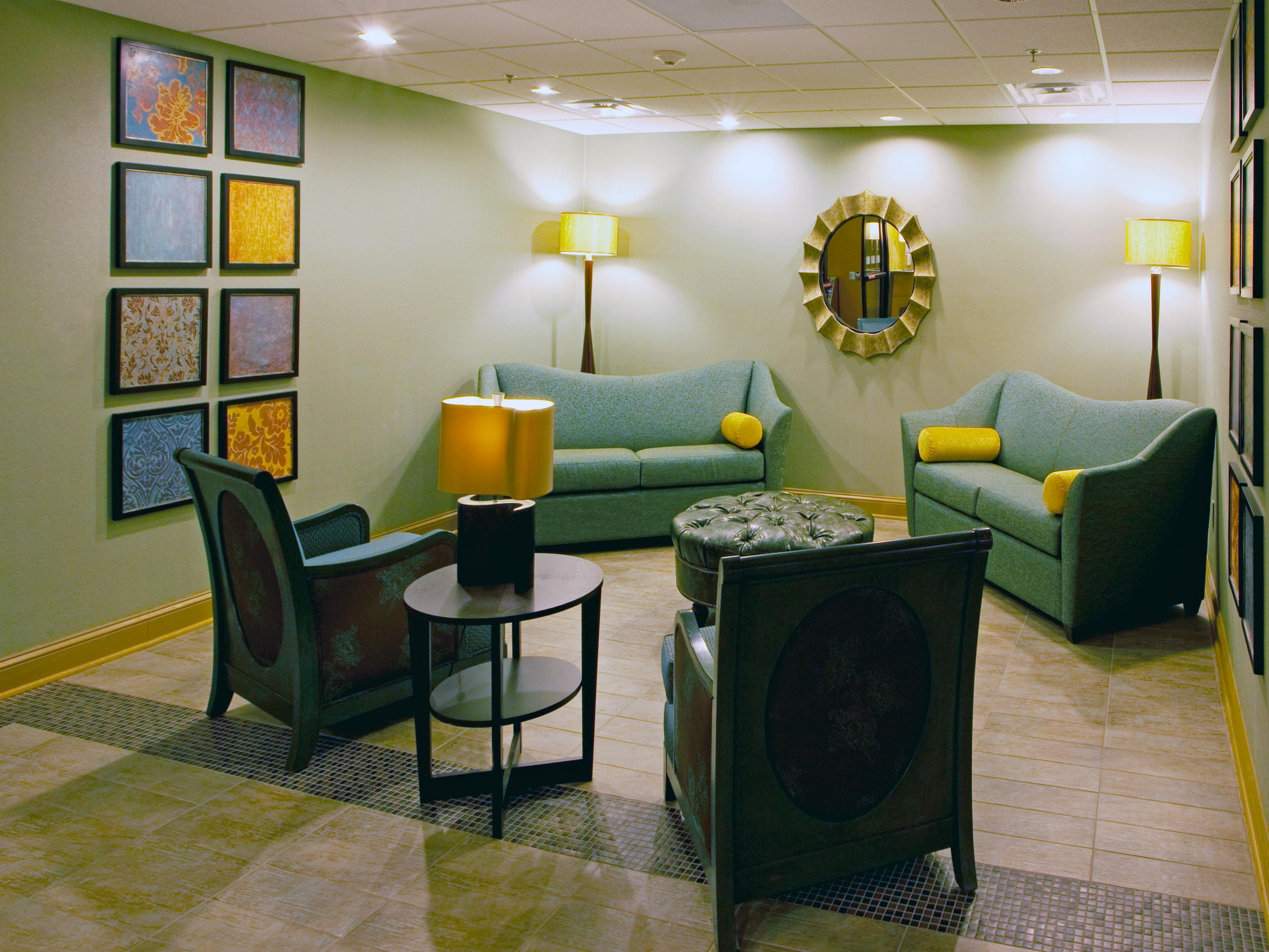 Our Lobby Lounge has a bright new contemporary feel