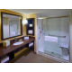 Spacious showers and bathrooms in our accessible king rooms