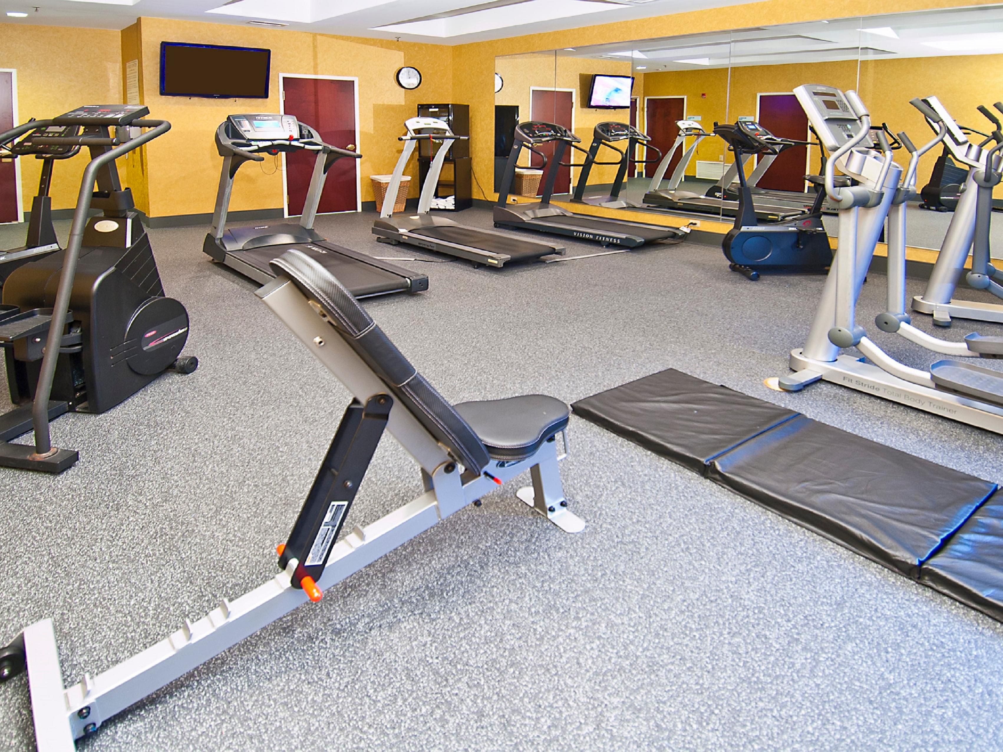 Fitness Center, open 24 hours.