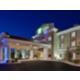 A beautiful night in Idaho, the hotel glows!