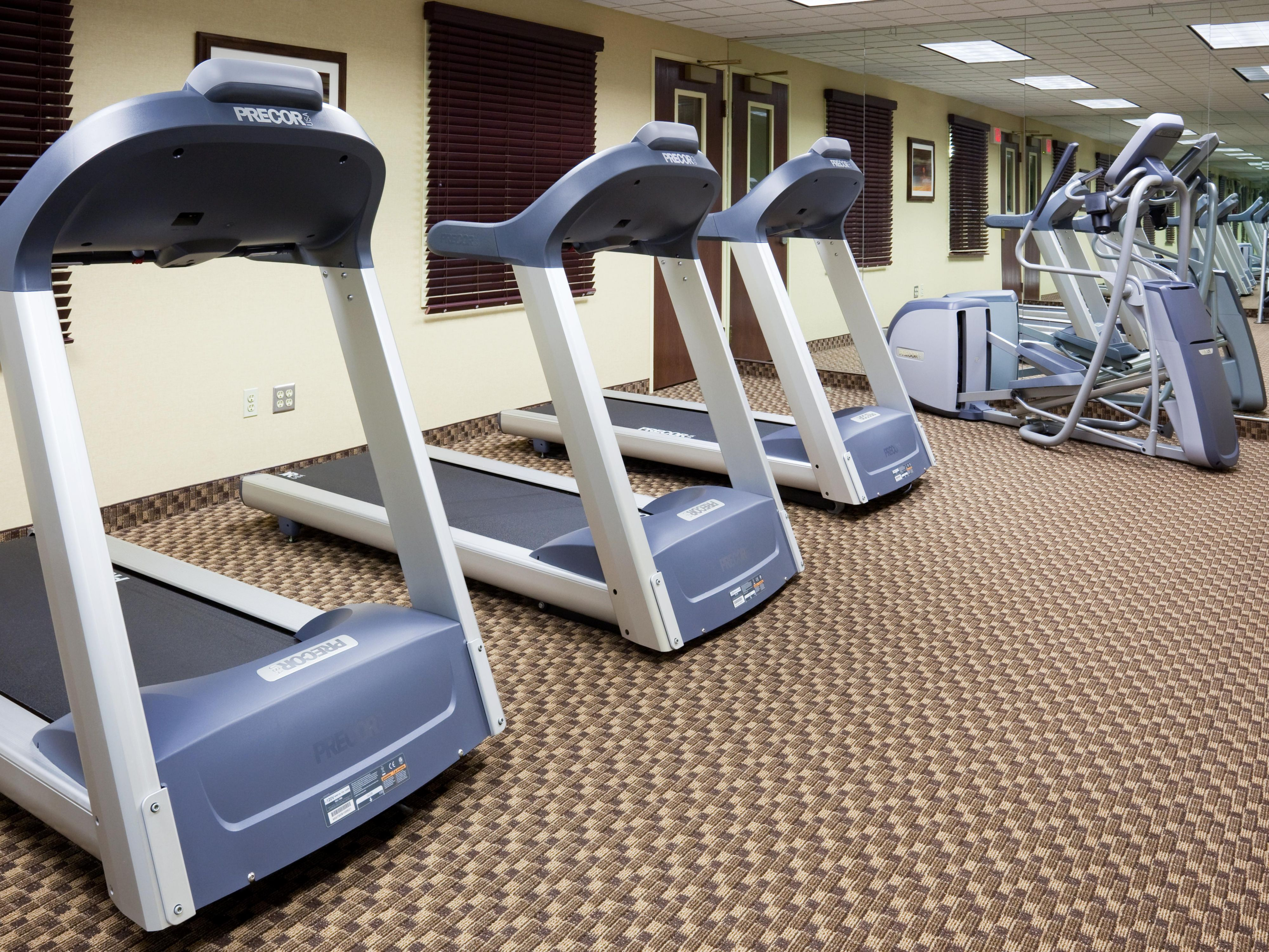 24 Hour Fitness Center with Precor Equipment and Free Weights