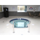 Our whirlpool is located in the pool area
