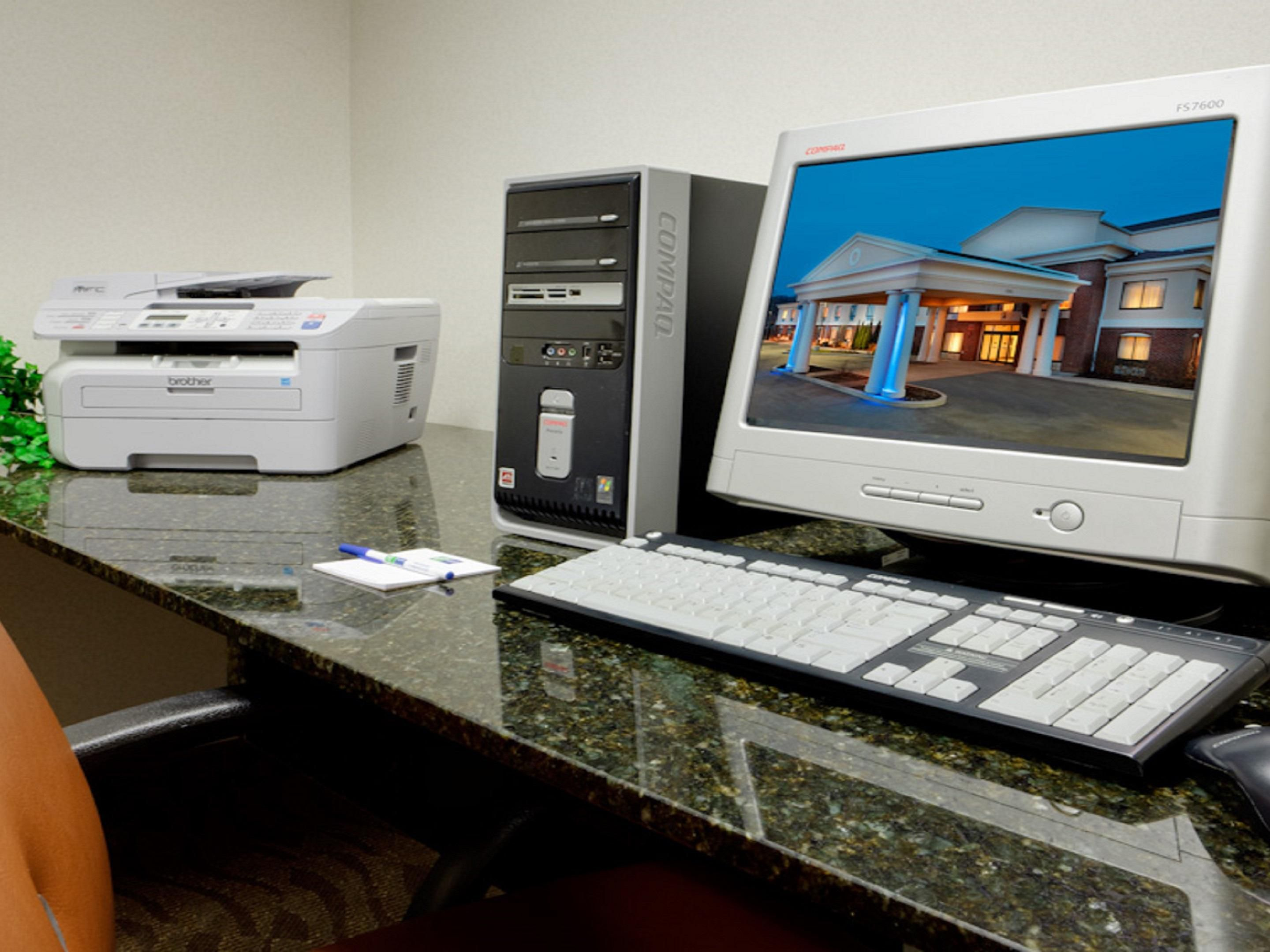 Business Center with Computer and Printer