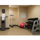 On-Site Fitness Center, complete with free weight set