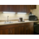 Spacious counter top and cabinet amenities in our King Suites