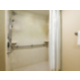 Accessible guest rooms with a roll-in shower are available