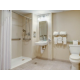 King ADA Suite Bathroom with Roll-In Shower