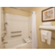 Accessible bathroom in our deluxe rooms.