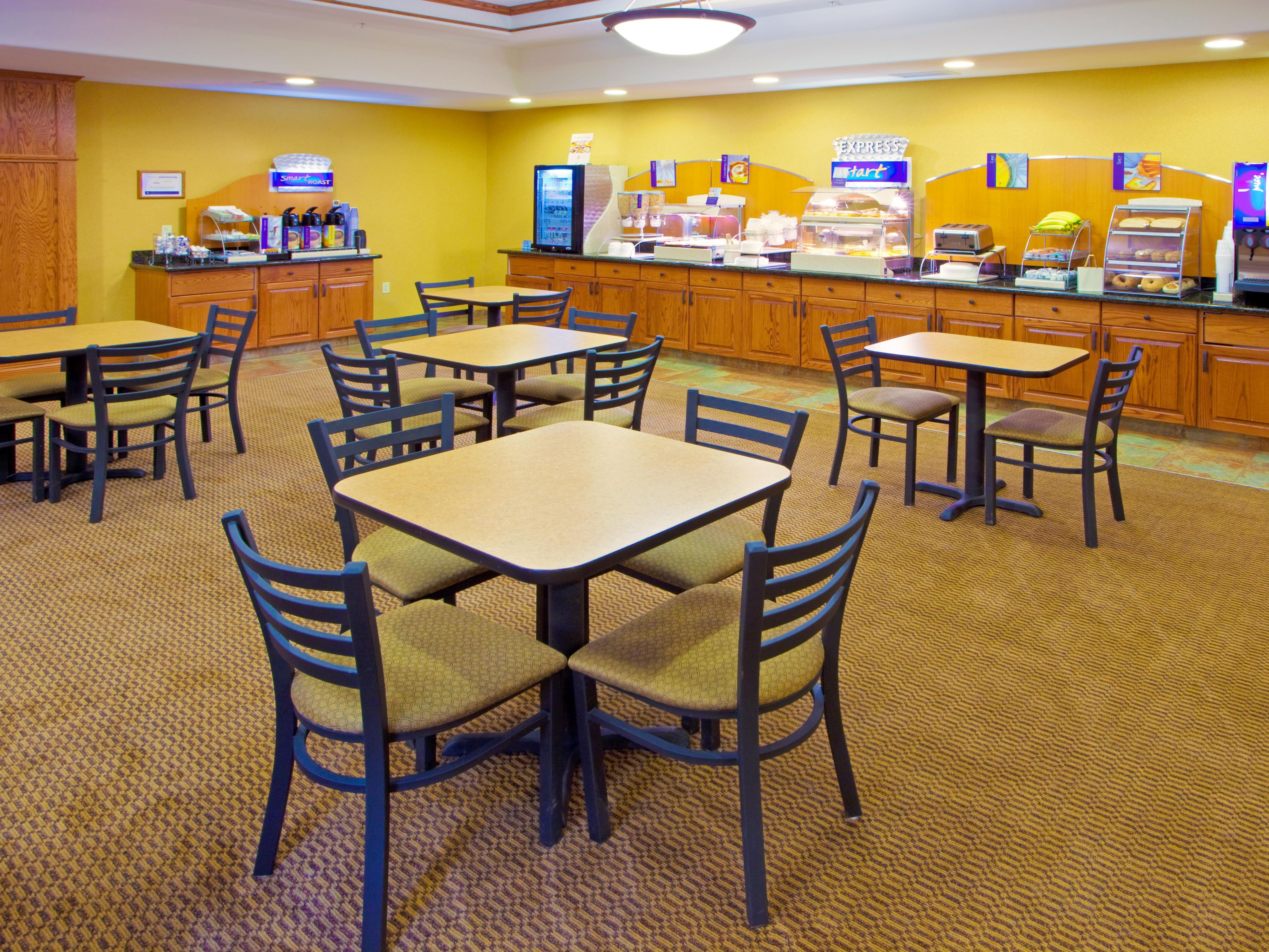 Holiday Inn Express & Suites-Weston  breakfast bar.