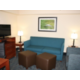 Our suites offer a sleeper sofa in the living area.