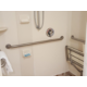 Our wheelchair accessible rooms offer grab bars & a shower seat.