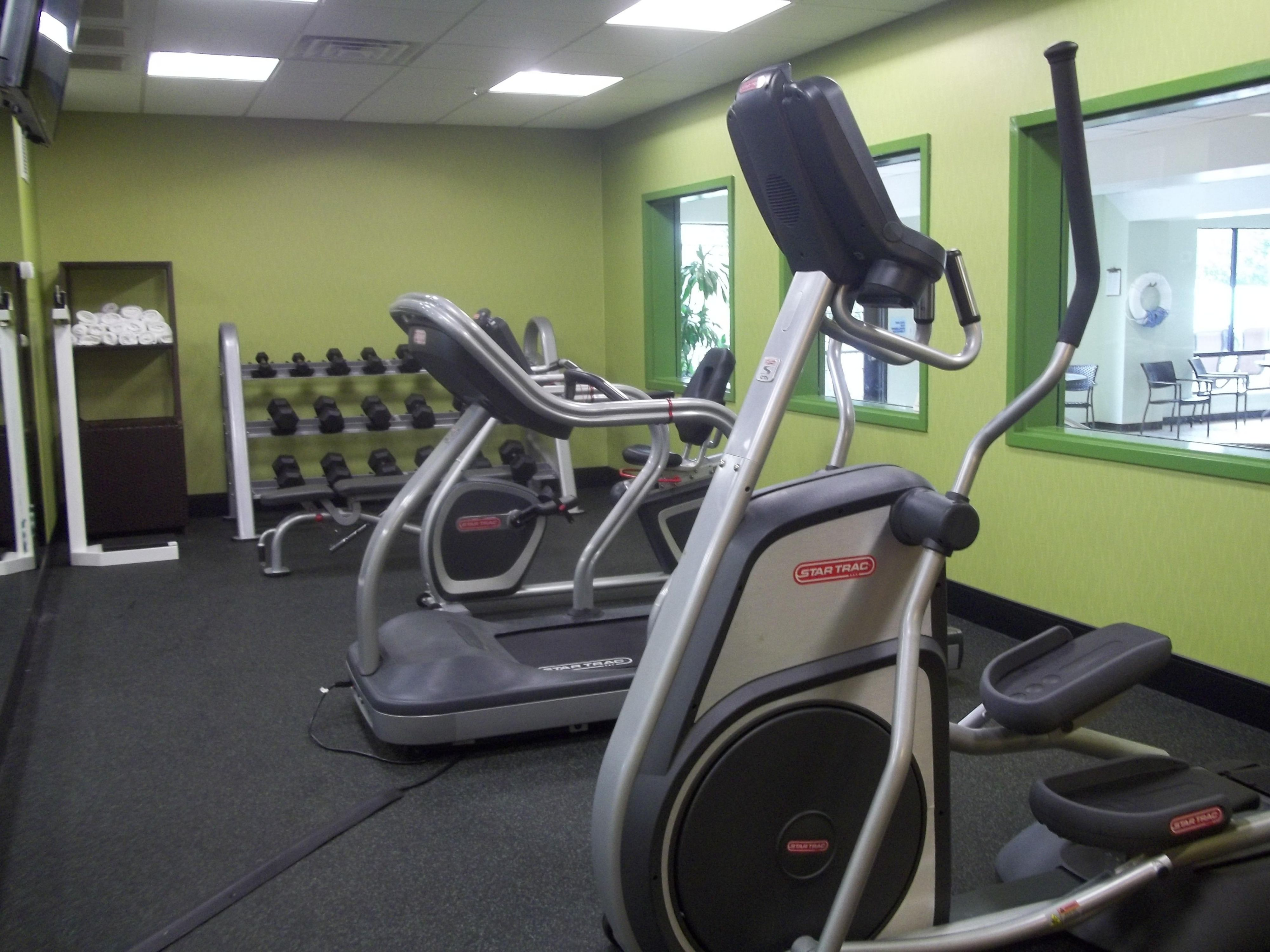 Work out in our fully equipped fitness center