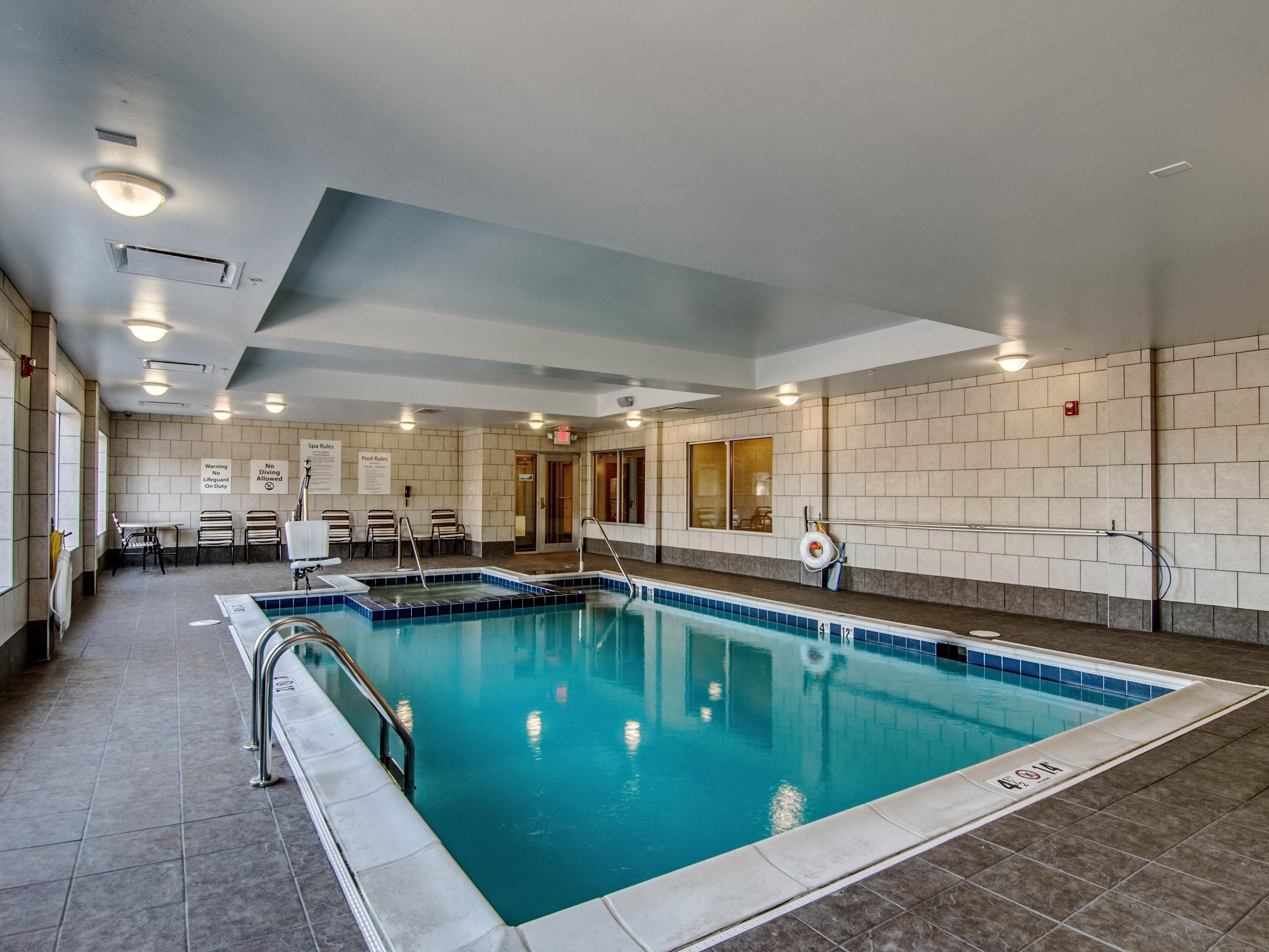 Swimming Pool with Handicap Pool Lift