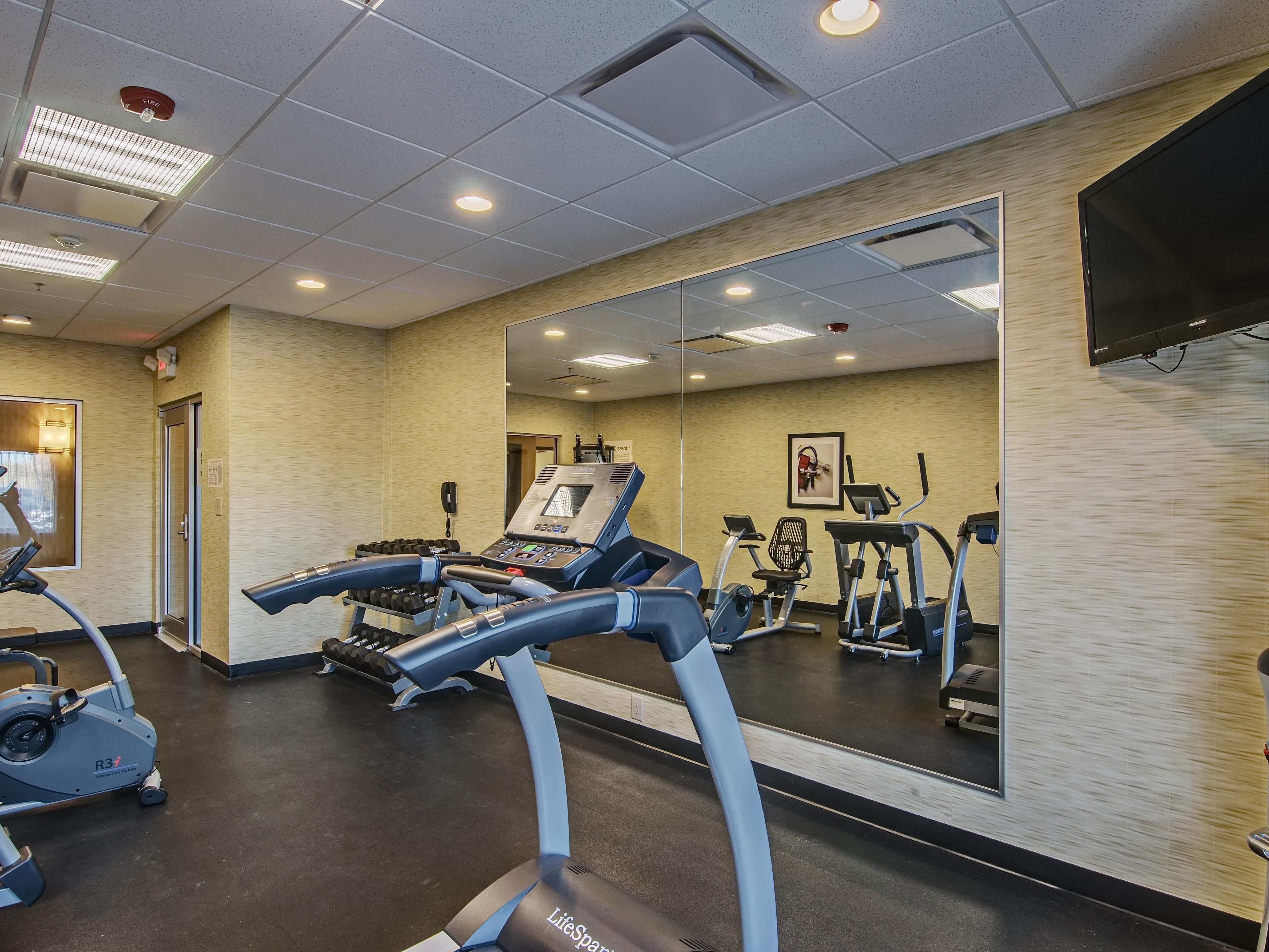 Fitness Center - equipped with a television and water cooler