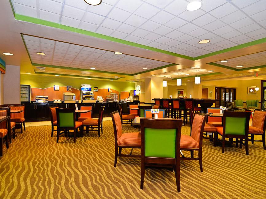 Hot Breakfast Buffet seating area