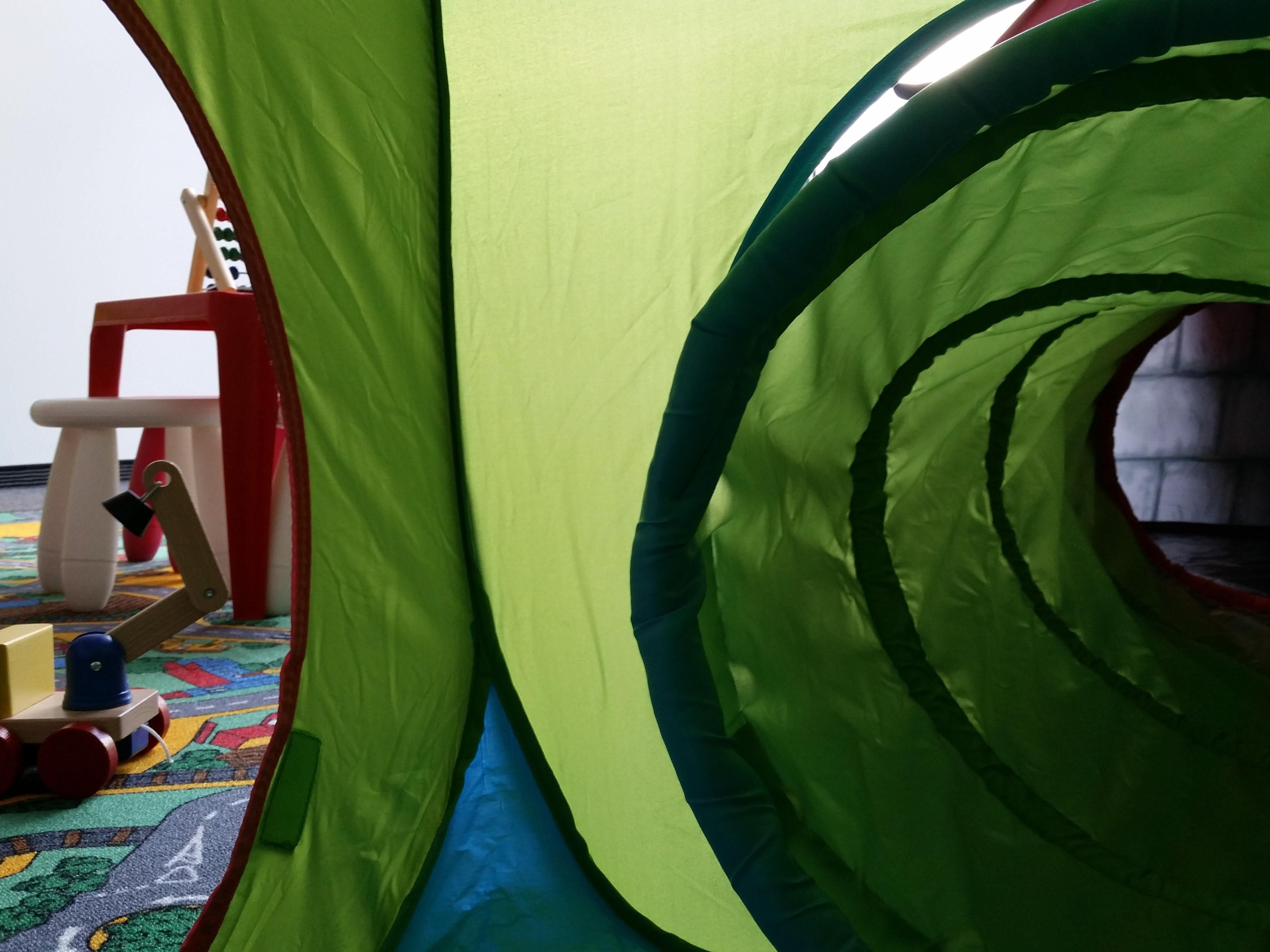 Inside our play castle