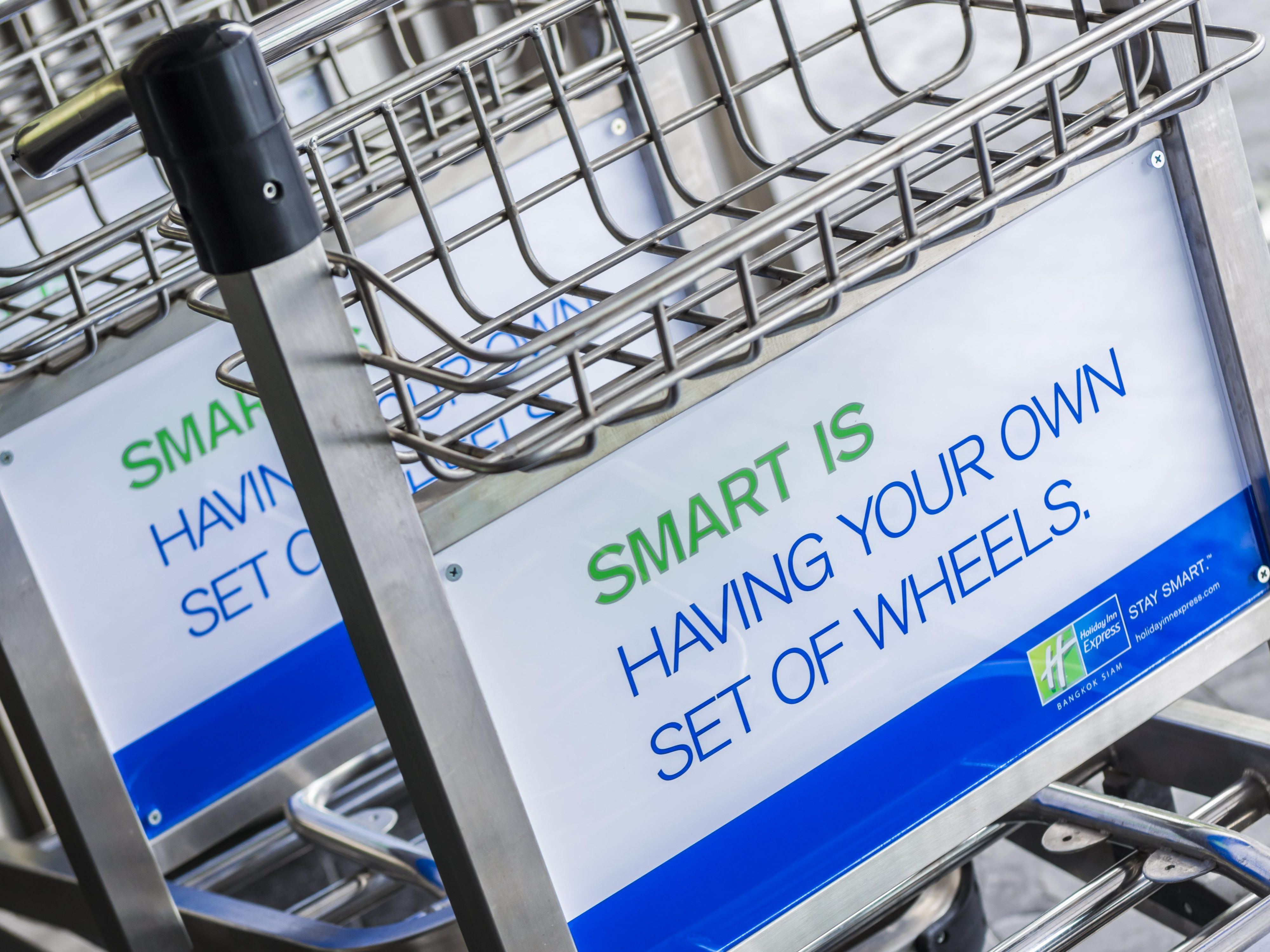 Holiday Inn Express Trolleys for guest convenience