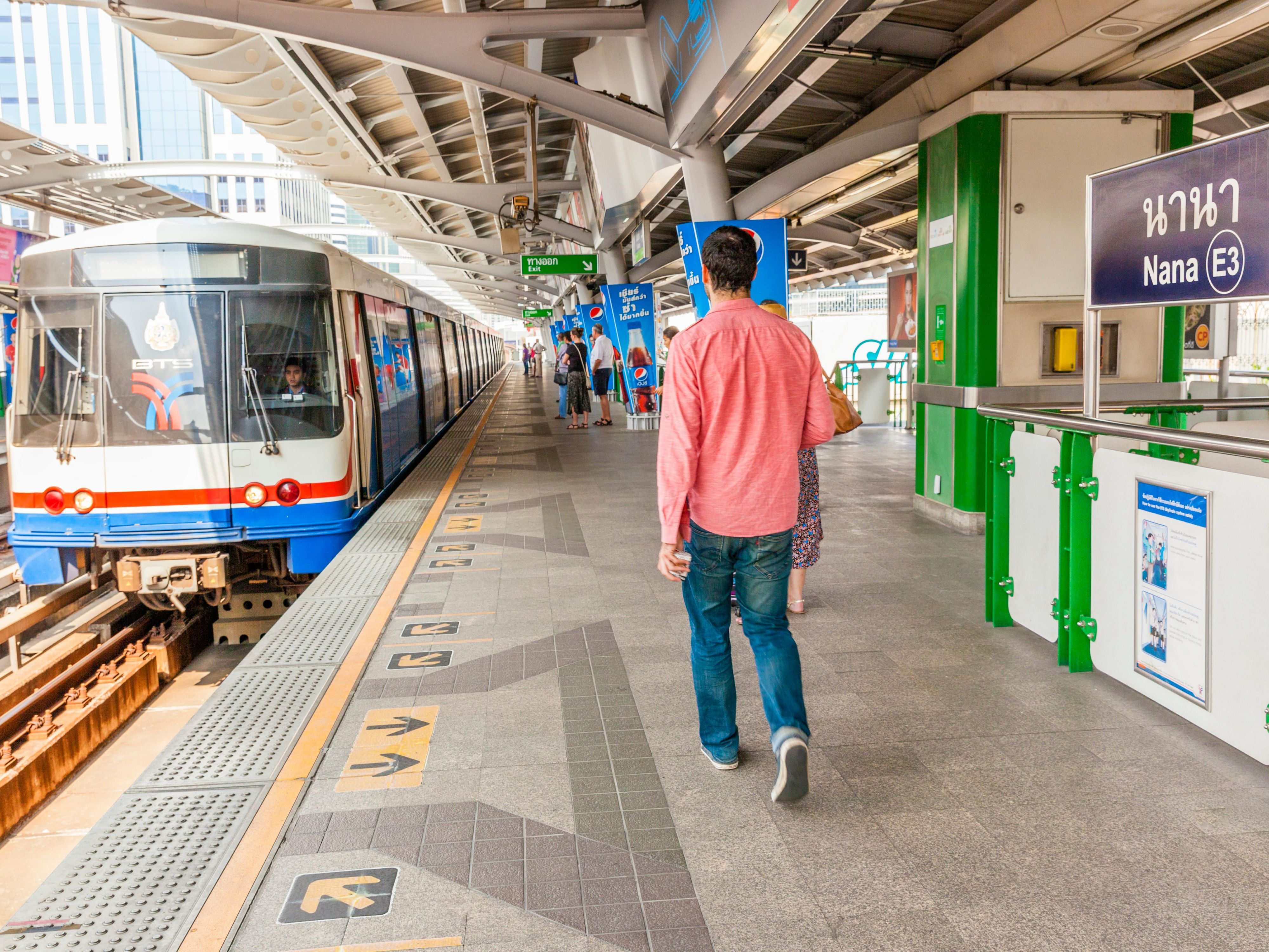 BTS Skytrain Nana Station located right in front of Sukhumvit 11